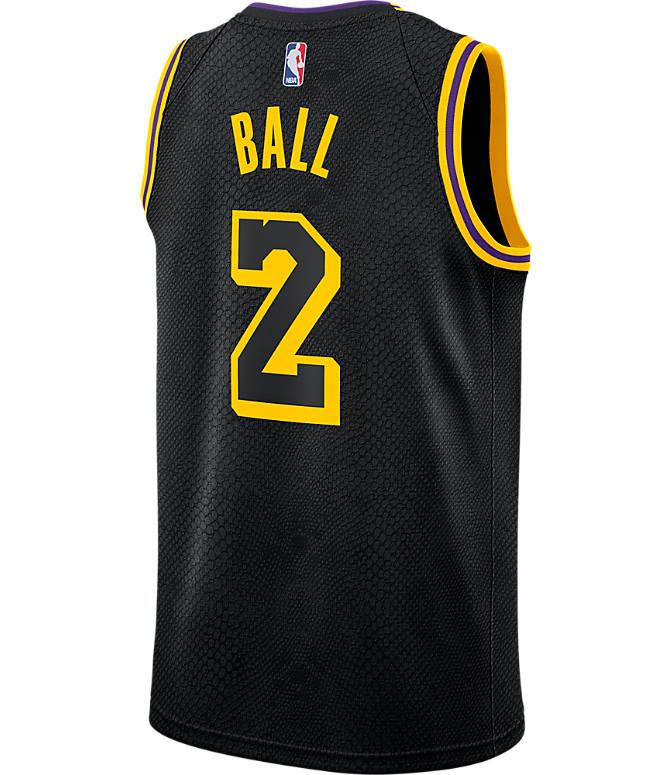 online retailer 0df52 53aeb Men's Nike Los Angeles NBA Lonzo Ball City Edition Connected ...