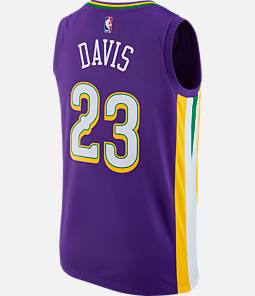 Men's Nike New Orleans Pelicans NBA Anthony Davis City Edition Connected Jersey