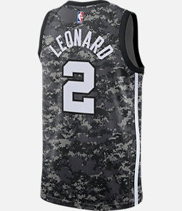 Men's Nike San Antonio Spurs NBA Kawhi Leonard City Edition Connected Jersey
