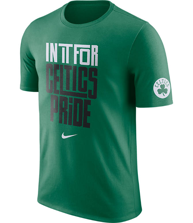 Front view of Men's Nike Boston Celtics NBA Dry In It For T-Shirt in Green