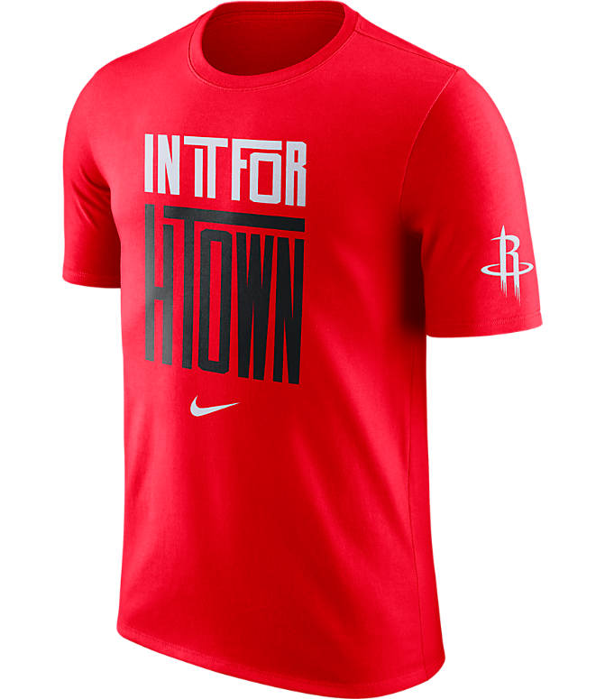 Front view of Men's Nike Houston Rockets NBA Dry In It For T-Shirt in Red