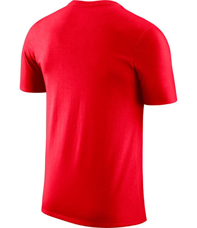 Back view of Men's Nike Houston Rockets NBA Dry In It For T-Shirt in Red
