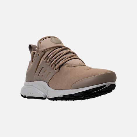 Three Quarter view of Women's Nike Air Presto SE Casual Shoes in Khaki/Pale Grey/Black