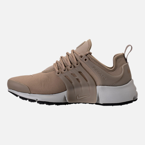 Left view of Women's Nike Air Presto SE Casual Shoes in Khaki/Pale Grey/Black