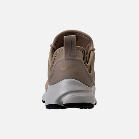 Back view of Women's Nike Air Presto SE Casual Shoes in Khaki/Pale Grey/Black