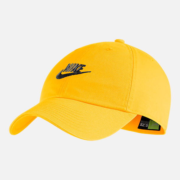 Front view of Nike Sportswear H86 Washed Futura Adjustable Back Hat in Amarillo/Black