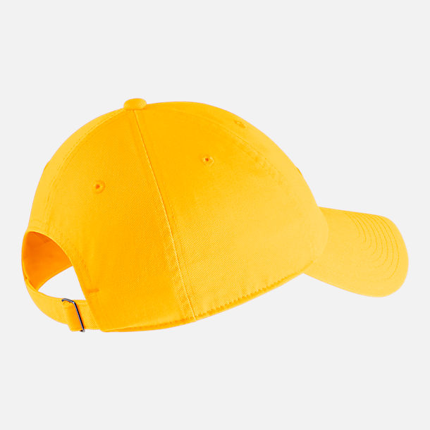 Back view of Nike Sportswear H86 Washed Futura Adjustable Back Hat in Amarillo/Black