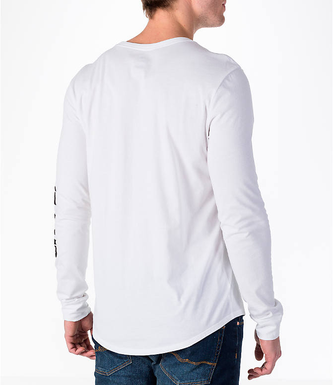 "Back Right view of Men's Air Jordan ""City of Flight"" Long-Sleeve T-Shirt in White"