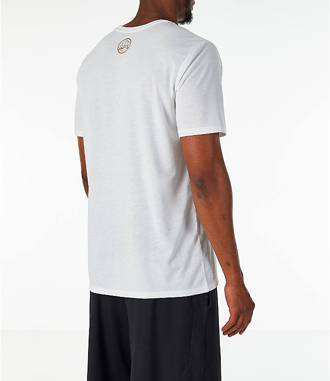 "Back Right view of Men's Nike ""16 Stars"" Dry Basketball T-Shirt in White"