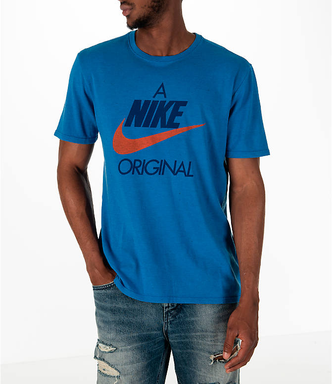 Detail 2 view of Men's Nike Sportswear Nike Original T-Shirt in Blue