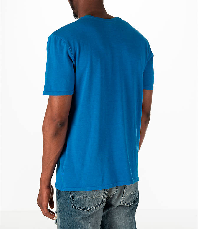Back Left view of Men's Nike Sportswear Nike Original T-Shirt in Blue
