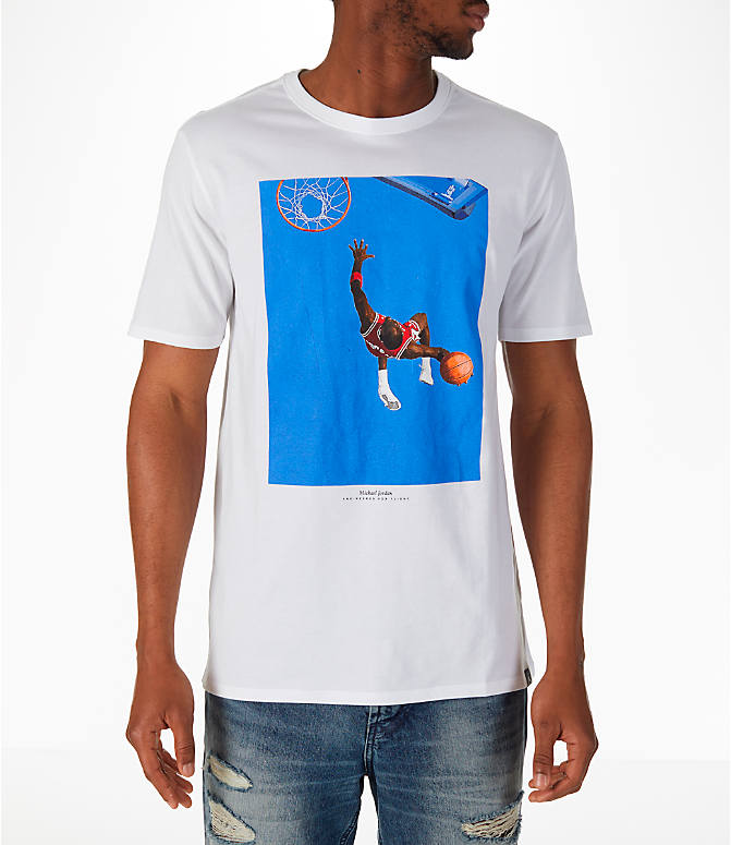 Front view of Men's Jordan Sportswear SI Cover T-Shirt in White