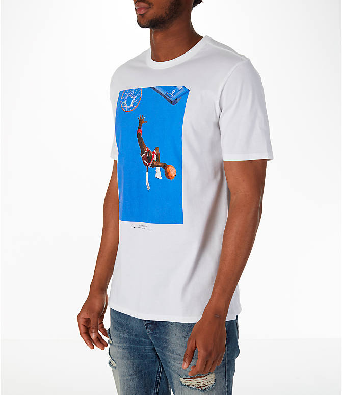 Front Three Quarter view of Men's Jordan Sportswear SI Cover T-Shirt in White