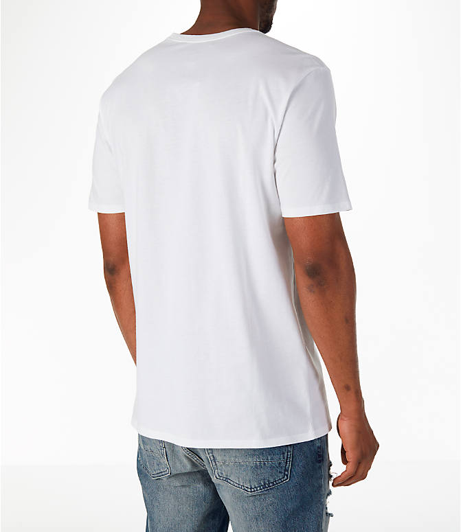 Back Right view of Men's Jordan Sportswear SI Cover T-Shirt in White