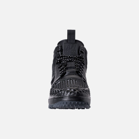 Front view of Men's Nike Lunar Force 1 2017 Duckboots in Black/Anthracite
