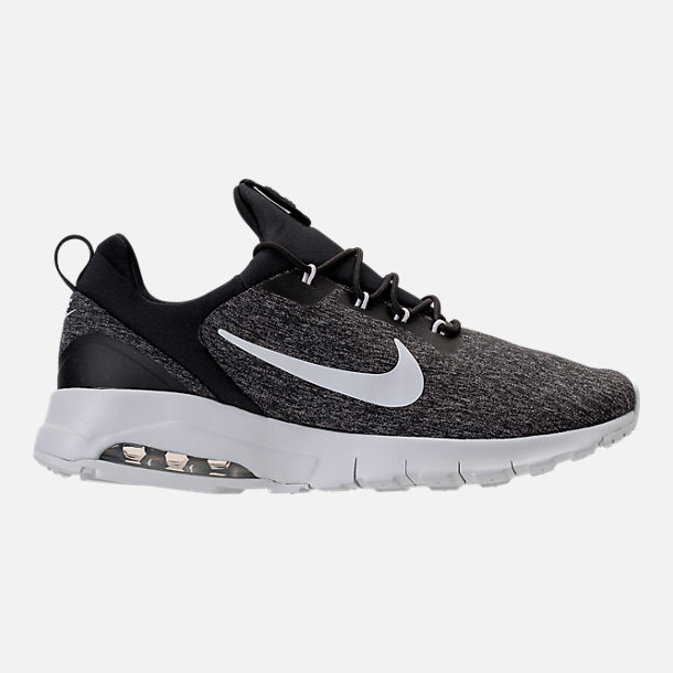 Right view of Men's Nike Air Max Motion Racer Casual Shoes in Black/Pure Platinum