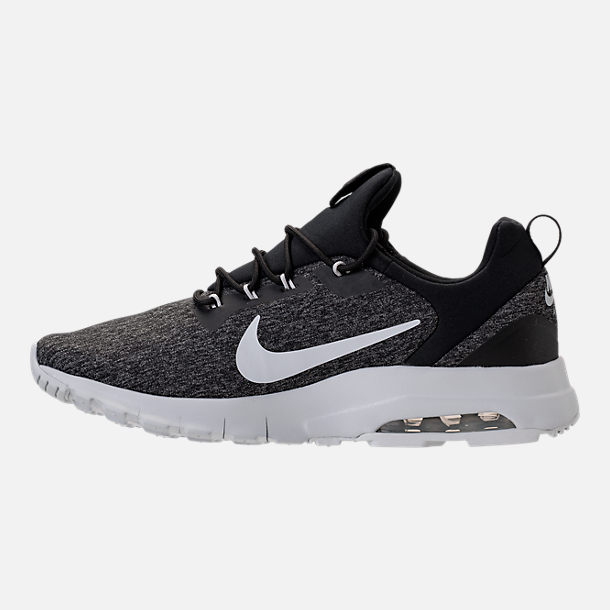 Left view of Men's Nike Air Max Motion Racer Casual Shoes in Black/Pure Platinum