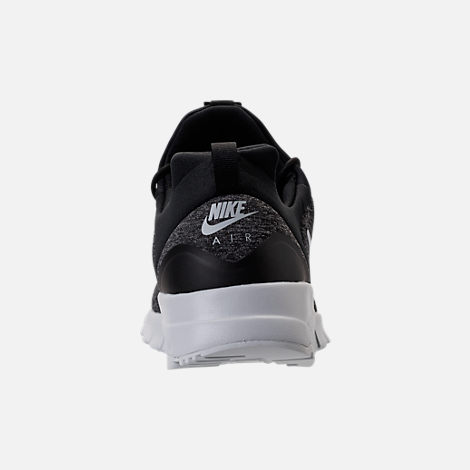 Back view of Men's Nike Air Max Motion Racer Casual Shoes in Black/Pure Platinum