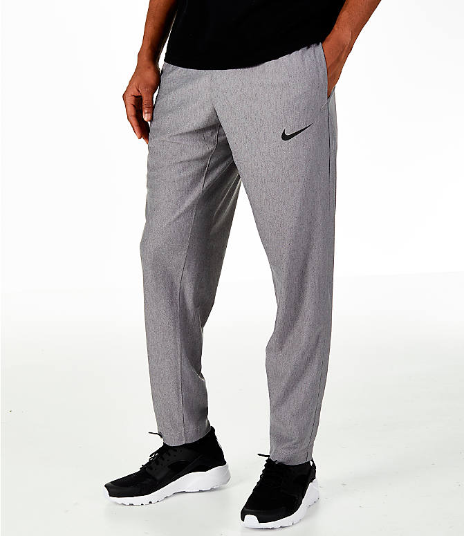 Front view of Men's Nike Transition Basketball Pants in Grey