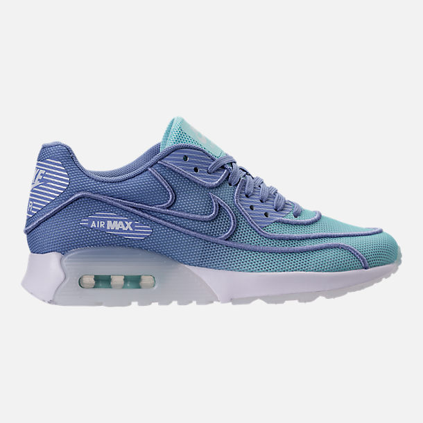 Right view of Women's Nike Air Max 90 Ultra 2.0 Breathe Casual Shoes in Still Blue/Polarized Blue