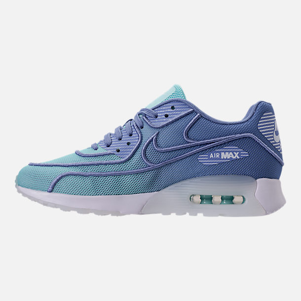 Left view of Women's Nike Air Max 90 Ultra 2.0 Breathe Casual Shoes in Still Blue/Polarized Blue