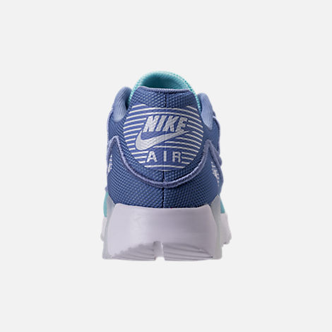 Back view of Women's Nike Air Max 90 Ultra 2.0 Breathe Casual Shoes in Still Blue/Polarized Blue