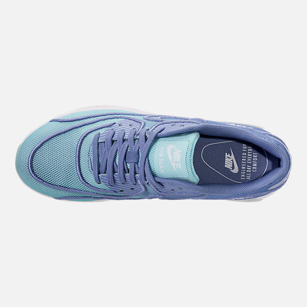 Top view of Women's Nike Air Max 90 Ultra 2.0 Breathe Casual Shoes in Still Blue/Polarized Blue