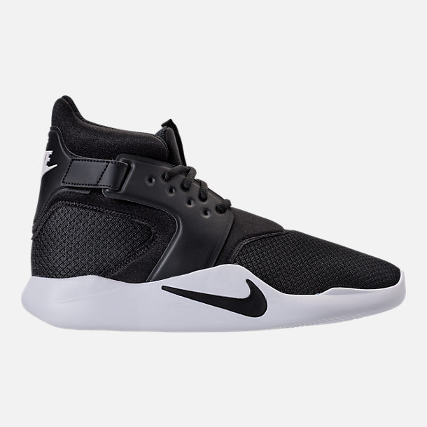 Right view of Men's Nike Incursion Basketball Shoes in Black/Black/White