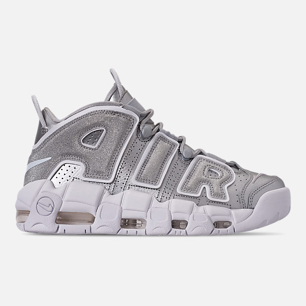 65dd25d28ecf Right view of Women s Nike Air More Uptempo Casual Shoes in Metallic Silver Metallic  Silver