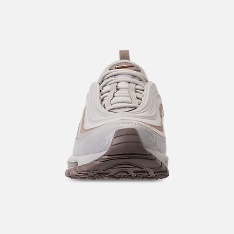 Front view of Women's Nike Air Max 97 Premium Casual Shoes in Light Bone/Diffused Taupe/Sepia Stone