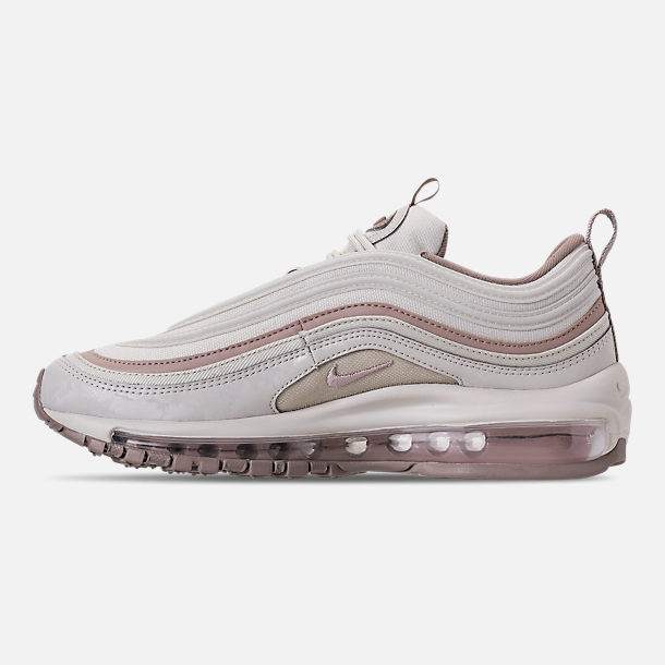 Left view of Women's Nike Air Max 97 Premium Casual Shoes in Light Bone/Diffused Taupe/Sepia Stone