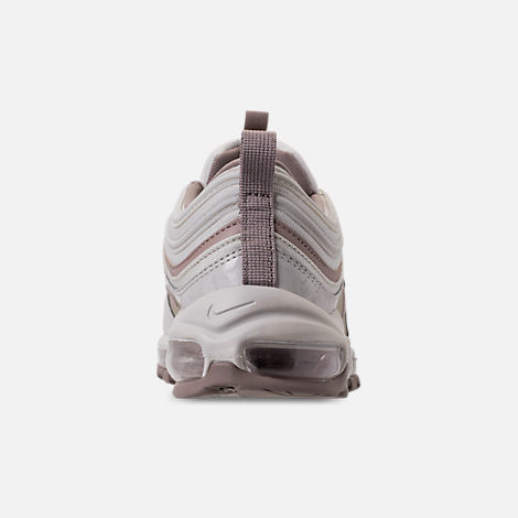 Back view of Women's Nike Air Max 97 Premium Casual Shoes in Light Bone/Diffused Taupe/Sepia Stone