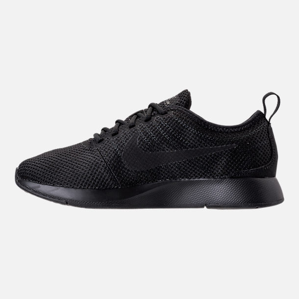 Left view of Boys' Grade School Nike Dualtone Racer Casual Shoes in Black/Black/Black