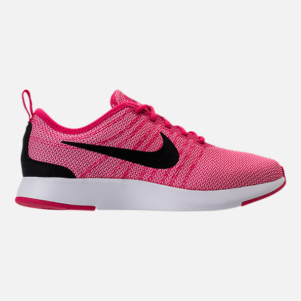 Right view of Girls' Grade School Nike Dualtone Racer Casual Shoes in Rush Pink/Black/Prism Pink/White