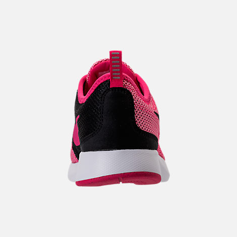 Back view of Girls' Grade School Nike Dualtone Racer Casual Shoes in Rush Pink/Black/Prism Pink/White