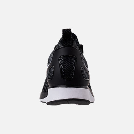 Back view of Women's Nike Air Zoom Mariah Flyknit Racer Casual Shoes in Black/White/Dark Grey