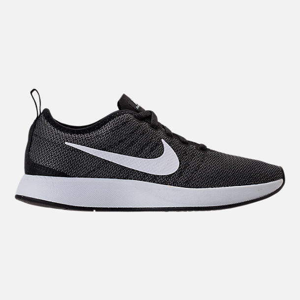 Right view of Women's Nike Dualtone Racer Casual Shoes in Black/White/Dark Grey