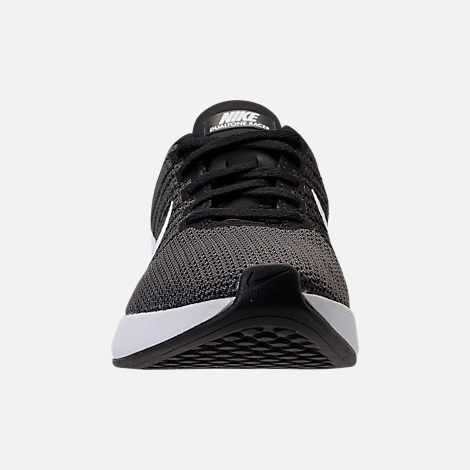 Front view of Women's Nike Dualtone Racer Casual Shoes in Black/White/Dark Grey