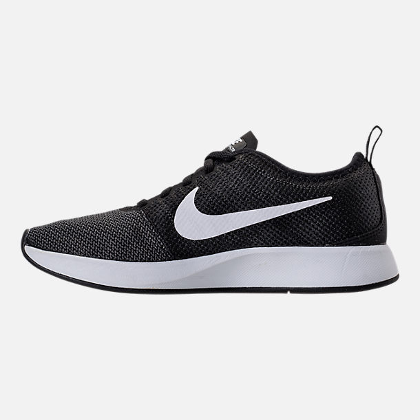 Left view of Women's Nike Dualtone Racer Casual Shoes in Black/White/Dark Grey