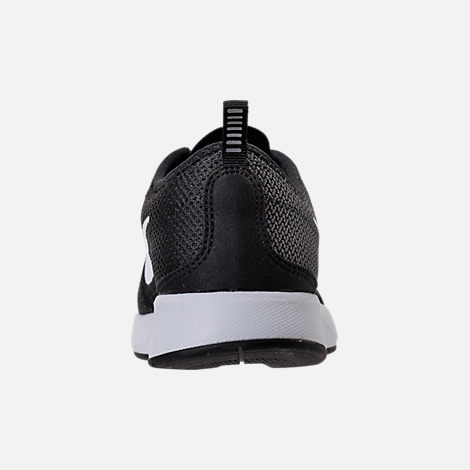 Back view of Women's Nike Dualtone Racer Casual Shoes in Black/White/Dark Grey