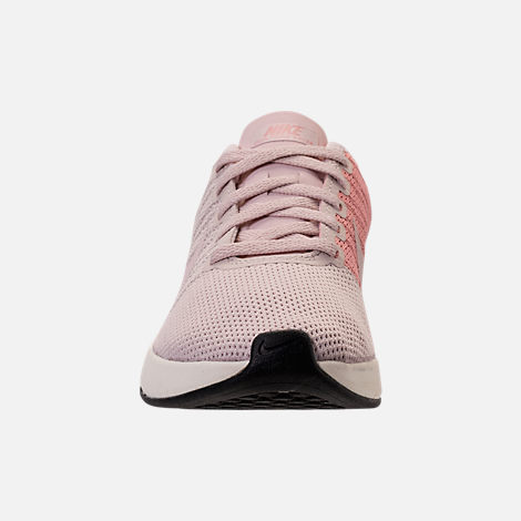 Front view of Women's Nike Dualtone Racer Casual Shoes in Silt Red/Stardust/Sail