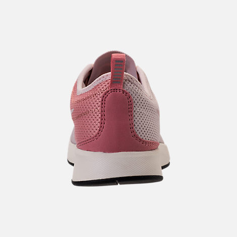 Back view of Women's Nike Dualtone Racer Casual Shoes in Silt Red/Stardust/Sail
