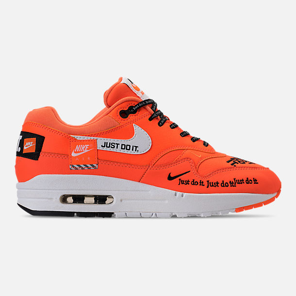 Right view of Women's Nike Air Max 1 Lux Casual Shoes in Total Orange/White/Black