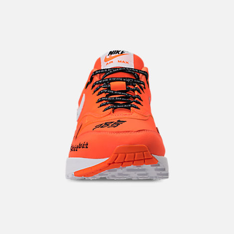 sneakers for cheap 892d0 7850b ... where to buy front view of womens nike air max 1 lux casual shoes in  total