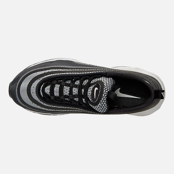 Top view of Women's Nike Air Max 97 Ultra '17 Casual Shoes in Black/