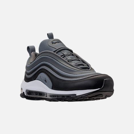 Three Quarter view of Women's Nike Air Max 97 Ultra '17 Casual Shoes in Cool Grey/Anthracite/Black/Dark Grey