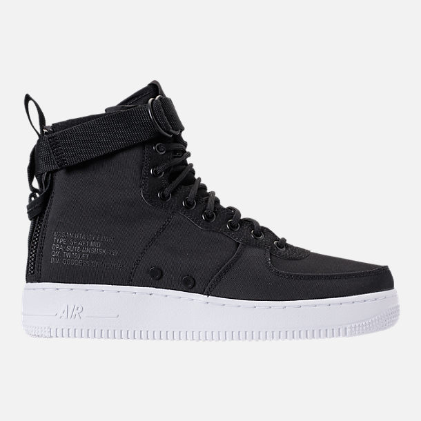 Right view of Men's Nike SF-AF1 Mid Casual Shoes in Black/Anthracite/White