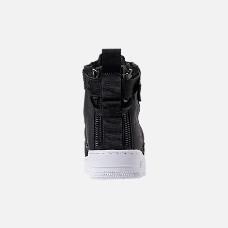 Back view of Men's Nike SF-AF1 Mid Casual Shoes in Black/Anthracite/White