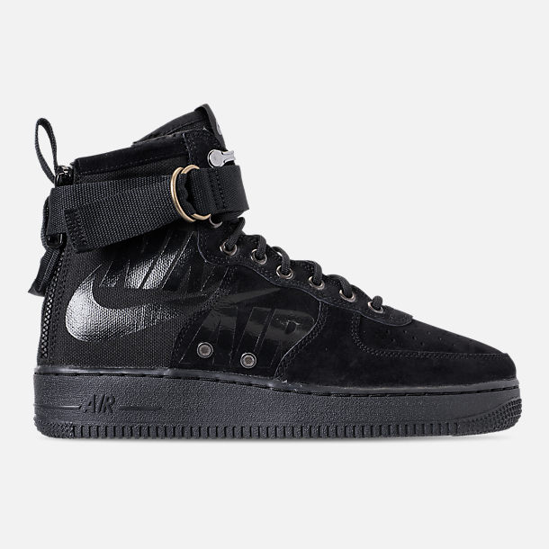 Right view of Men's Nike SF-AF1 Mid Casual Shoes in Black/Cool Grey