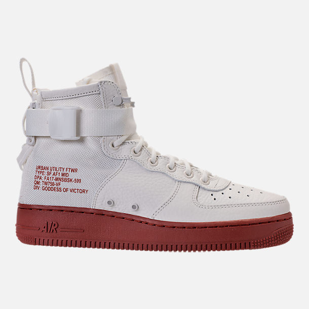 Right view of Men's Nike SF-AF1 Mid Casual Shoes in Ivory/Mars Stone